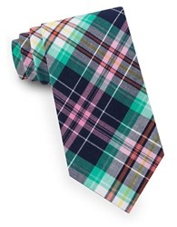 Lord And Taylor Light Weight Plaid Tie Green
