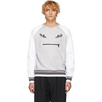 Fendi Grey And White 'Bag Bugs' Sweatshirt