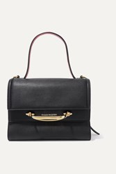 Alexander Mcqueen The Story Small Two Tone Leather Tote Black