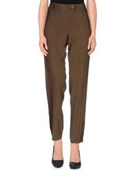 Borbonese Trousers Casual Trousers Women Military Green