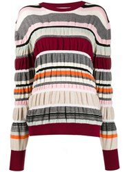 J.W.Anderson Jw Anderson Striped Ruched Jumper Red