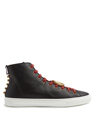Gucci Major High Top Leather Trainers Black Multi