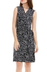 Vince Camuto Women's Graphic Ribbon Wrap Dress