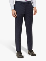 Ted Baker York Wool Check Tailored Suit Trousers Navy