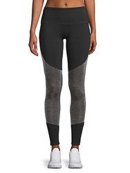Electric Yoga Mesh Panel Leggings Silver