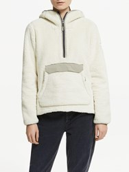 The North Face Campshire Pullover Hoodie Vintage White Slit Grey