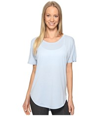 Lucy Final Rep S S Blue Fog Women's Short Sleeve Pullover