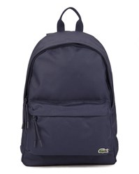 Lacoste Navy Blue Crocodile Logo Backpack