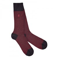 London Sock Company Marl Red
