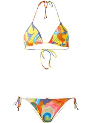 Missoni Abstract Print Bikini Set Women Polyamide Spandex Elastane 40