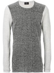 Lost And Found Ria Dunn Contrast Knitted Top Men Cotton M Grey