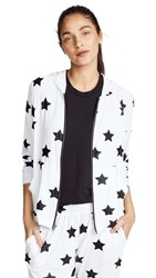 Terez Star Hoodie Black Big Star Foil White Rayo