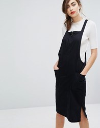 People Tree Organic Cotton Pinnafore Dress With Ring Pull Zip Black