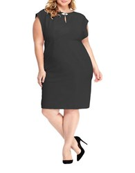 London Times Plus Empire Waist Sheath Dress Black