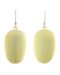Ted Muehling Large Brushed Green Gold Chip Earrings Green