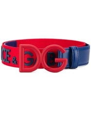 Dolce And Gabbana Dg Bicolour Belt Red