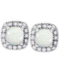 Victoria Townsend Opal 1 Ct. T.W. And Diamond Accent Stud Earrings In Sterling Silver