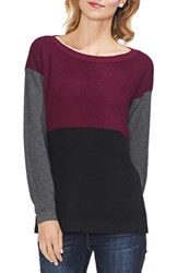Vince Camuto Colorblock Sweater Manor Red