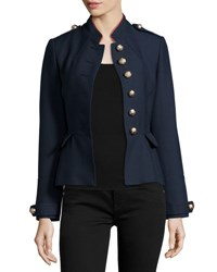 Burberry Huntingdale Military Button Jacket Ink Blue Navy