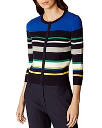 Karen Millen Striped Cardigan Multi