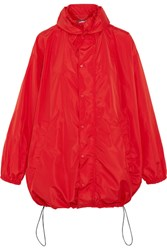 Balenciaga Hooded Shell Windbreaker Jacket Red