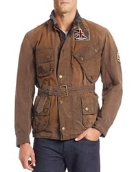 Barbour Coated Cotton Jacket Brown