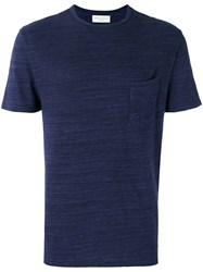 Officine Generale Front Pocket T Shirt Blue
