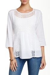 Casual Studio Lace Front Blouse White