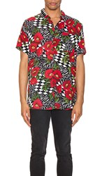 Rolla's Bon Shirt In Red Black. Wild Rose And Rosecheck