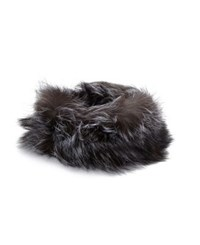 Adrienne Landau Fox Fur Headband Heather Grey