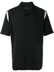Lanvin Contrast Panel Shortsleeved Shirt Black