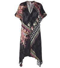 Etro Printed Silk Blend Dress Multicoloured