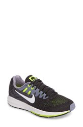 Nike Women's Air Zoom Structure 20 Running Shoe Anthracite Wht Purple Volt