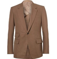 Kingsman Eggsy's Brown Cotton Twill Suit Jacket