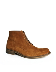 Selected Homme Hunt Suede Boots Beige