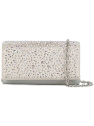 Rodo Crystal Embellished Clutch Metallic