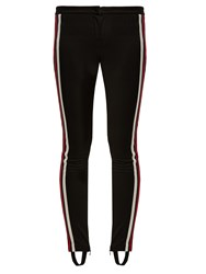Gucci Contrast Stripe Stirrup Hem Leggings Black