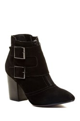 Restricted Jet Set Pointy Toe Bootie Black