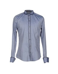 Dandg Shirts Shirts Men Slate Blue