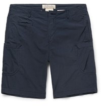 Remi Relief Cotton And Nylon Blend Shorts Navy
