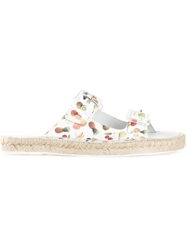 Miista Fruit Print Slip On Sandals