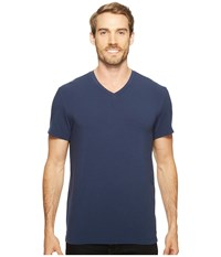 Kenneth Cole Cotton Spandex V Neck Tee Baltic Men's Clothing Blue
