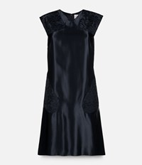 Christopher Kane Sporty Dress With Lace Inserts Black
