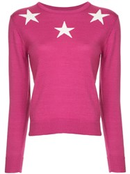 Guild Prime Star Print Sweater Pink And Purple