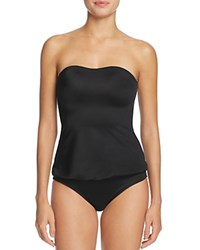 Norma Kamali Strapless Babydoll One Piece Swimsuit Black