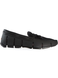 Swims Braided Lace Driving Shoes Black