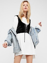 Free People Shrunken Corset Vest By