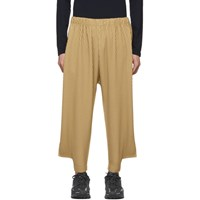 Homme Plisse Issey Miyake Beige Pleat Notched Trousers
