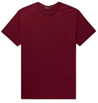 Loro Piana Slim Fit Silk And Cotton Blend Jersey T Shirt Red
