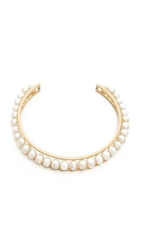 Gabriela Artigas Cage Choker Necklace Pearl Gold